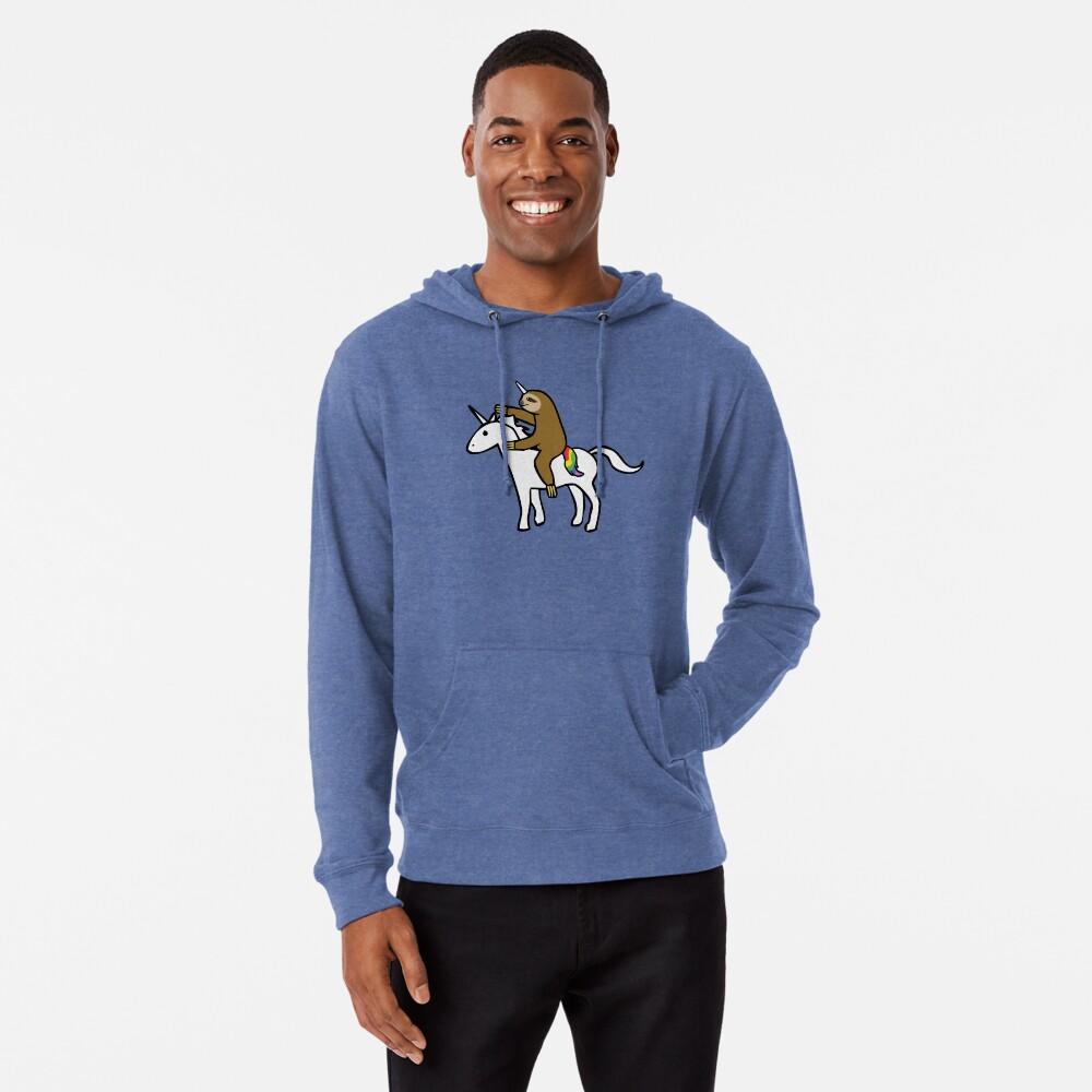 Slothicorn Riding Unicorn Lightweight Hoodie