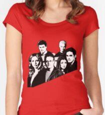 A BTVS motif Women's Fitted Scoop T-Shirt