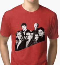 A BTVS motif Tri-blend T-Shirt