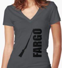 Fargo Shotgun Women's Fitted V-Neck T-Shirt
