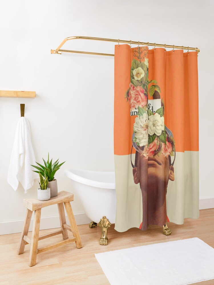 Alternate view of The Unexpected Shower Curtain