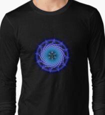 Merkaba Spiral Mandala Blue  ( Fractal Geometry ) T-Shirt