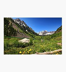Maroon Bells in Summer Photographic Print