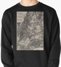Sudadera cerrada 0293 Railroad Maps Map of New York City Brooklyn and vicinity shewing sic suburban lines of Long Island Railroad and its
