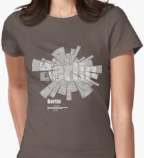 Berlin Map Womens Fitted T-Shirt