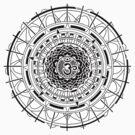 Mandala Om  (black) by Leah McNeir