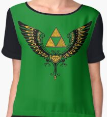 Tri Winged Women's Chiffon Top