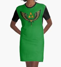 Tri Winged Graphic T-Shirt Dress