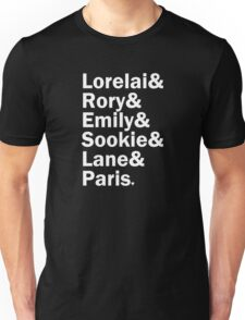 Gilmore Girls - Lorelai & Rory & Emily & Sookie & Paris   Black Unisex T-Shirt