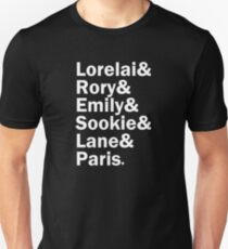 Gilmore Girls - Lorelai & Rory & Emily & Sookie & Lane & Paris | Black Unisex T-Shirt