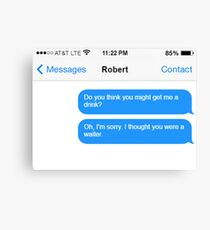 Dowager Texts: Dowager burns Robert  Canvas Print