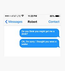 Dowager Texts: Dowager burns Robert  Photographic Print