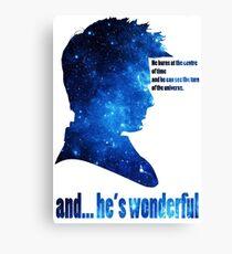 and he' wonderful galaxy Canvas Print