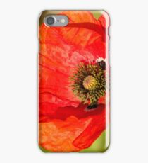 fresh red poppy iPhone Case/Skin