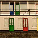 Porthgwidden beach huts, St Ives, Cornwall by Jeff  Wilson