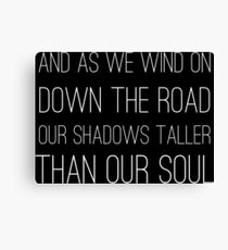 Epic Rock and Roll Famous 60s Lyrics Text Stairway Canvas Print