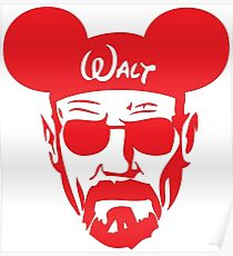 Red Walter White Mouse Ears Poster