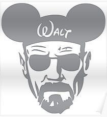 Grey Walter White Mouse Ears Poster
