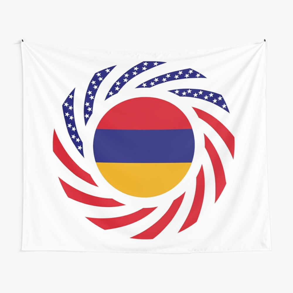 Armenian American Multinational Patriot Flag Series Wall Tapestry