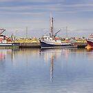 Three Boats at Trinity, NL, Canada by Gerda Grice