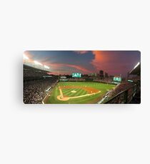 Wrigley Field at Night Canvas Print