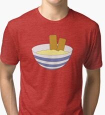 Fish Fingers & Custard Tri-blend T-Shirt
