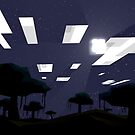 Minecraft Nightscape by Sirkib