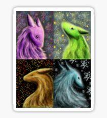 Four Seasons Dragons Sticker