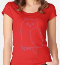 Purple Owl Women's Fitted Scoop T-Shirt
