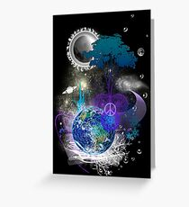 Cosmic geometric peace Greeting Card