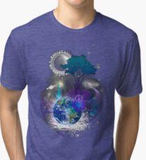 Cosmic geometric peace Tri-blend T-Shirt