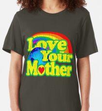 Love Your Mother (Vintage Distressed Design) Slim Fit T-Shirt