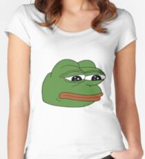 Pepe the Sad Frog Women's Fitted Scoop T-Shirt