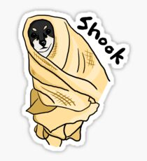 Shook Doggo Sticker