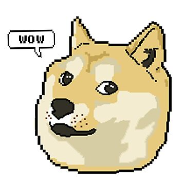 wow pixel shibe doge by catfantastic