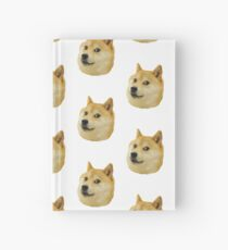 shibe doge face Hardcover Journal
