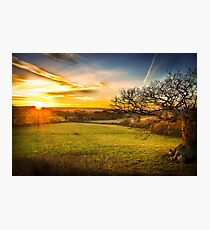 Sunset at Folly Farm, Somerset Photographic Print