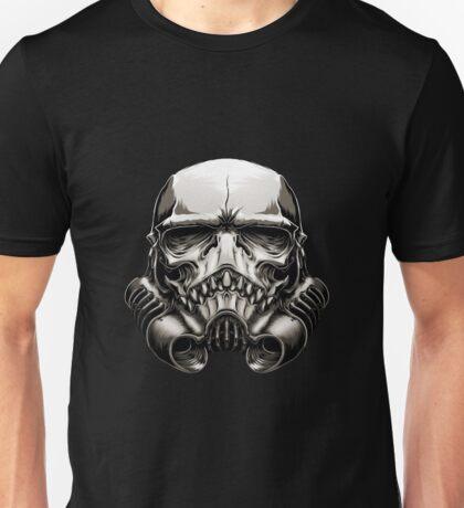 Skeleton Stormtrooper Helm Unisex T-Shirt