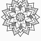 Mehndi / Henna style lotus flower blossom (black) by Leah McNeir