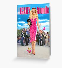 Legally Blonde (2001) Movie Poster Greeting Card
