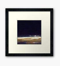 Night Beach landscape Ocean Framed Print