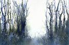 Perfect Day I - Stag at Dawn (Original painting sold) by Jacki Stokes