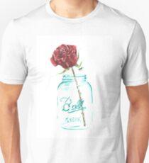 Mason Jar Rose Unisex T-Shirt