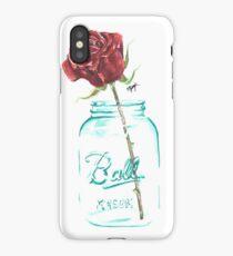 Mason Jar Rose iPhone Case