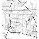 Vancouver Map, USA - Schwarz und Weiß von MainStreetMaps