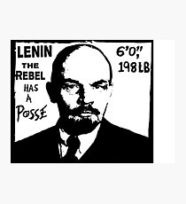 Vladimir Lenin Has A Posse - Obey Andre the Giant - Shepard Fairey communism parody Photographic Print