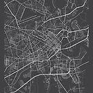 Ho-Chi-Minh-Stadt Karte, Vietnam - grau von MainStreetMaps