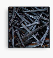 Black nails Canvas Print