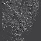 Cardiff Karte, Wales - Grau von MainStreetMaps