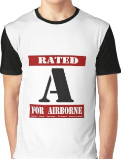 Rated A for Airborne Graphic T-Shirt